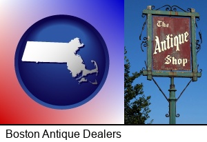 Boston, Massachusetts - an antique shop sign